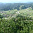 Pogled na Vinsko goro na polovici poti.