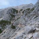Pogled nazaj na vrh.
