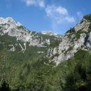Prvi pogled na Veliki Draški vrh.