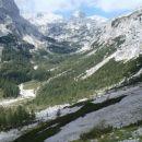 Veljska dolina z malo višje točke.