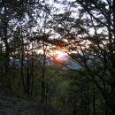 Sončni zahod na Resevni.