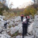 Pot nad slapom Rinka.