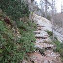 Križišče Walter Mory Klettersteig in položna pot.