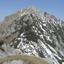 Pogled na Storžič z Bašeljskega vrha.