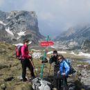 Razpotje na planini Korošici (zadaj Lučki Dedec)