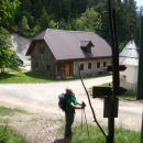 Križan - križišče na poti Uršlja - Sleme.