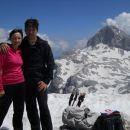 Na vrhu Kanjavca (zadaj Triglav)