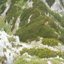 Pogled na prehojeno strmo pot na Ograde