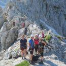 Nadaljujemo po plezalni poti čez Plemenice