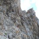 Začetek poti čez Triglavsko škrbino