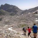 Spust z Begunjskega vrha