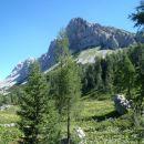 Desni greben se začne z Malo Tičarico.