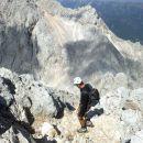 Spust z vrha Grintovca