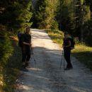 Začetek poti proti koči Rifugio Corsi