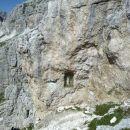 Kipec Marije pri vstopu v plezalni del Anite Goitan