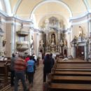 Notranjost cerkve v Vačah.