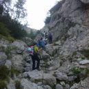 Pot proti Cojzovi koči na Kokrskem sedlu