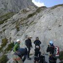 Že na začetku se opremimo za plezanje :)