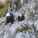 Pot od Cojzove koče na Kalško goro in Kalški greben (plezalna pot)