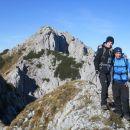 Razgled na prehojeno grebensko pot iz Košutice