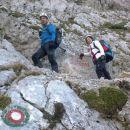 Vstop v plezalni del na Veliki vrh