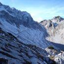 Pot s savinjskega sedla proti ledinskemu vrhu.