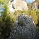 Pogled na plezalne stene v Škocjanu