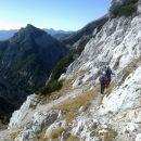 Pot proti Velikemu Draškemu vrhu in razgled na Ablanco