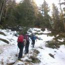 Sneg se prične pri okoli 1500 nadmorske višine