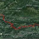 38,1km, 1541m vzpona in 1760m spusta - nočni pohod