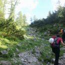 Nadaljnja pot od planine