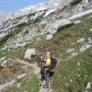 Nadaljnja pot na Malo Ojstrico in razgled na vrh Ojstrice