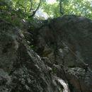 Pogled na začetni plezalni del