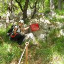 Konec plezalnega dela poti na Boč ... bilo je kratko, a sladko :)