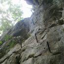 Začetni plezalni del na Ravno goro