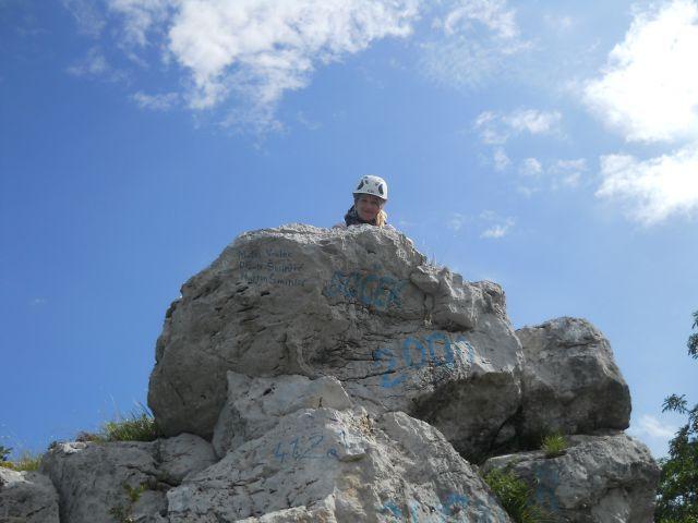 Prekrasna skalca ob izstopu iz plezalnega dela