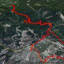Prehojeno 1790 m vzpona in toliko spusta, ter 14,2 km