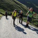 Vzpon proti koči Lucknerhütte