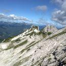 Razgled na Veliko Babo, Ledinski vrh in Storžek (od leve proti desni)