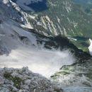 Pogled navzdol na Češko kočo in Ledine