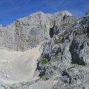 Razgled s poti na vrh Bovškega Gamsovca