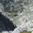 Razgled z vrha na Spodnje Kriško jezero