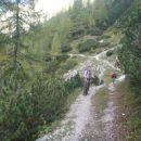 Pot od Krstenice proti Jezercem.