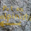 Nadaljnja pot samo za alpiniste :)
