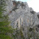 Razgled iz poti na prepadne stene Križevnika