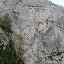Razgled iz poti na strme stene Križevnika