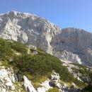 Razgled iz poti na zahodne stene Debelega vrha