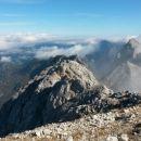 Razgled iz vrha na Krofičko, Raduho in Ojstrico (od leve proti desni)