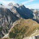 Razgled iz poti na Brano, Skuto, Tursko goro, Rinke, Veliko Babo in Mrzlo goro