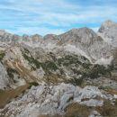 Razgled iz vrha na Škednjovec, Evo, Prevalski Stog, Mišelj vrh in Triglav